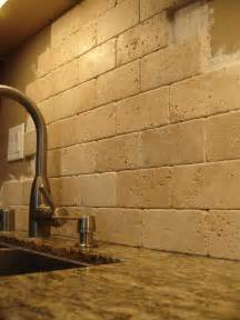 Stone Tile Kitchen Backsplash by Santa Cecilia Granite With Backsplash Ideas
