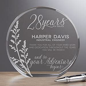 Personalized Crystal Retirement Award