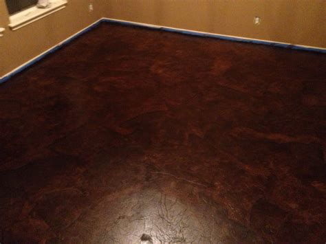 diy paper bag floors that look like stained concrete