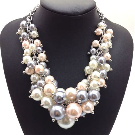 fashion jewelry whoesale gold chain variety pearl chunky