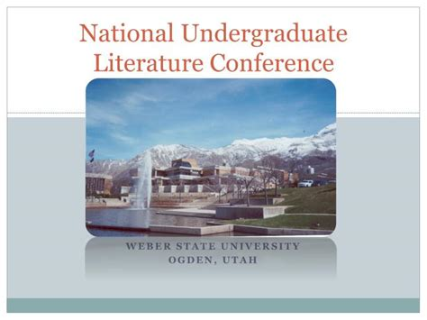 ppt national undergraduate literature conference
