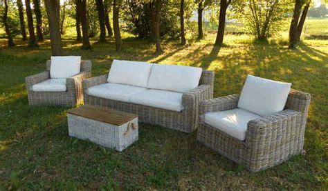 divanetti in vimini da esterno arredamento per esterno mobili da giardino salotti per