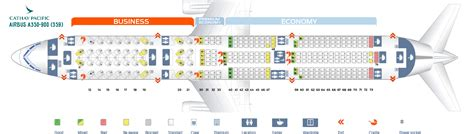 Airbus A320 Floor Plan   Seat Map Airbus A350 900 Cathay