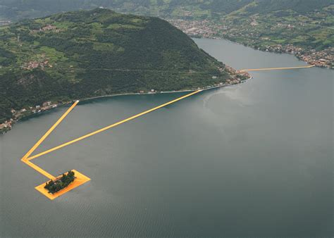 floating piers giant floating piers on italian lake by christo most