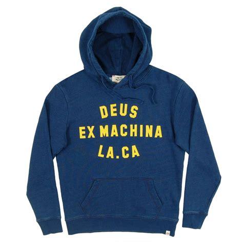Sweater Hoodie Deus Ex Machina Ss3 Jaspirow Shopping deus ex machina la ca indigo hoodie indigo mens clothing from attic clothing uk