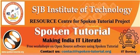 latex tutorial by iit sjbit spoken tutorial project iit bombay