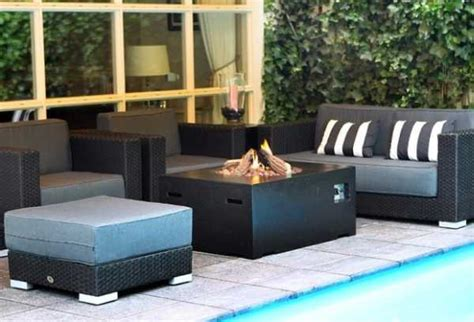 heated outdoor furniture uk happy cocooning rectangular gas pit