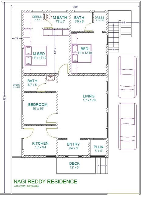 home design plans 30 60 30 x 60 house plans