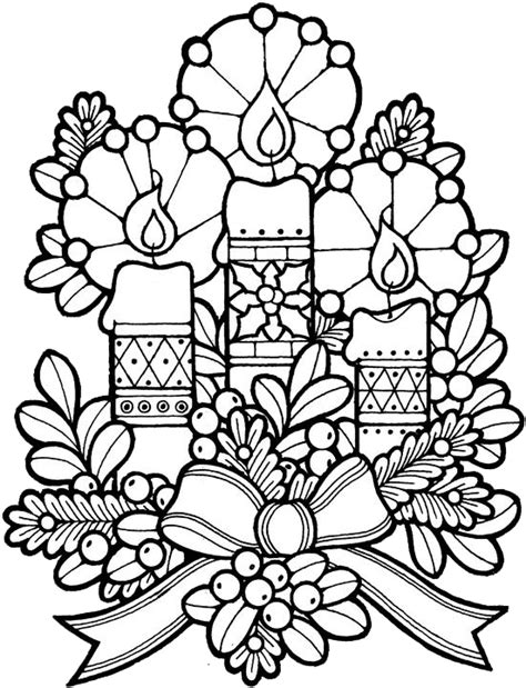 coloring pictures of christmas stuff christmas candles coloring pages 1 purple kitty