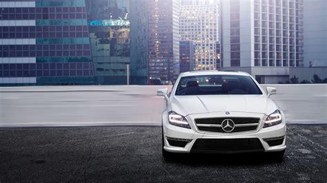 1920x1080 White Mercedes Benz Cls 63 Amg Rooftop Desktop
