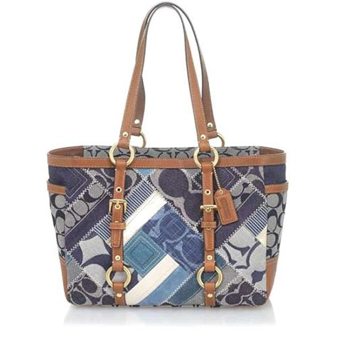Patchwork Coach Bag - coach signature patchwork denim gallery tote