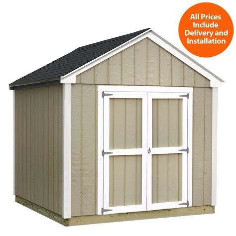 sheds usa installed val u plus 8 ft x 10 ft smart siding