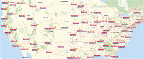 costco locations map usa map of costco stores in us costco locations map
