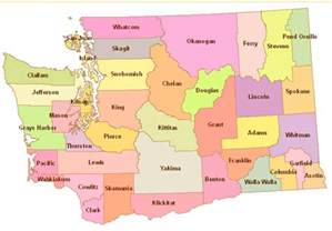 state of map with counties and city map of washington state cities counties washington state
