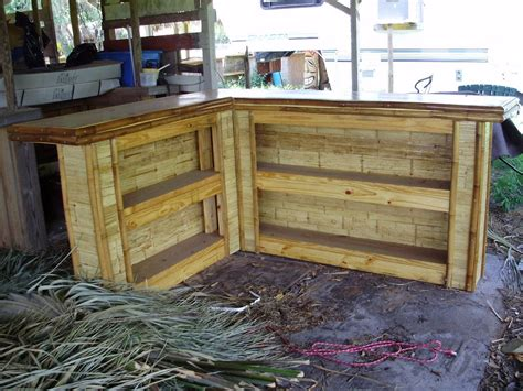 build  outdoor bar shaped small flattened