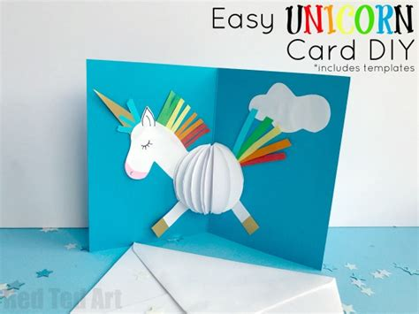 diy pop up birthday card templates 3d unicorn card diy ted s