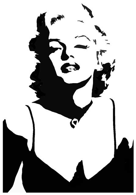 silhouette tattoo paper uk amazing stencils marilyn monroe stencil stencils
