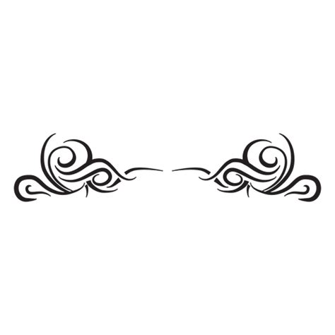 tribal divider pinstripes transparent png amp svg vector