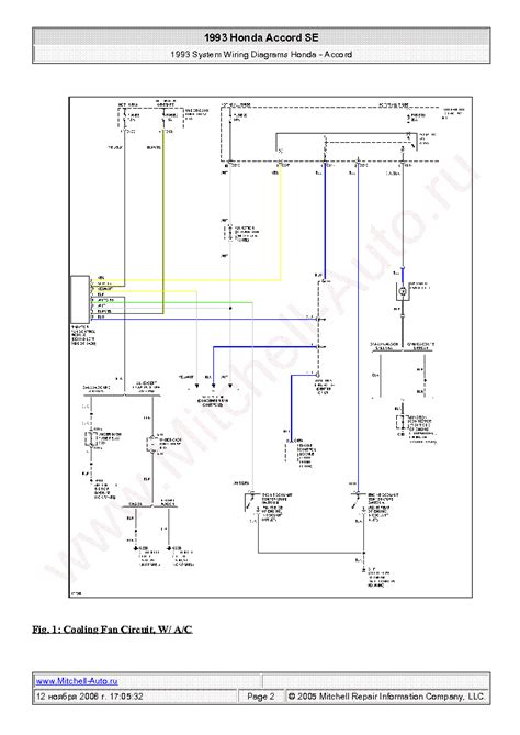 honda accord se 1990 wiring diagrams sch service manual
