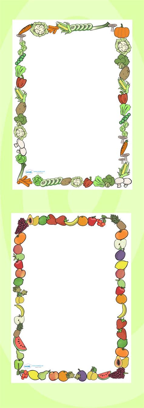 design a photo frame ks1 twinkl resources gt gt fruit and vegetables themed a4 page