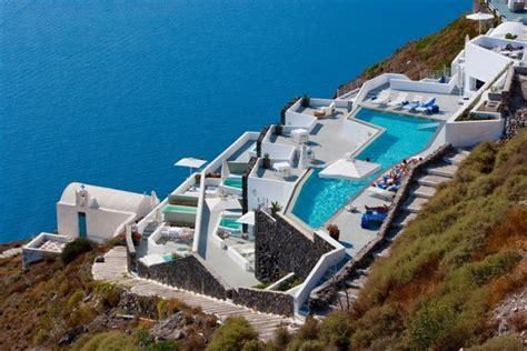 Glamorous Homes Interiors mediterranean hotel design inspired by unique santorini