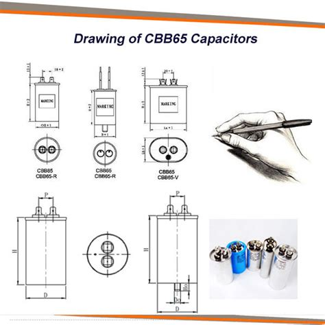 dual capacitor air conditioner wiring cbb65 sh capacitor dual capacitor for air conditioner from anhui safe electronics co ltd on