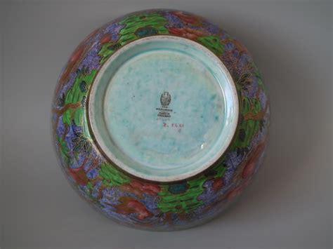 pattern maker portland wedgwood lustre argus pheasant bowl