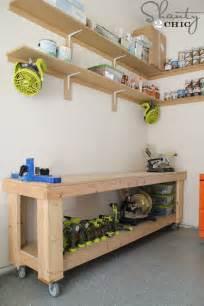 work bench diy diy workbench free plans shanty 2 chic