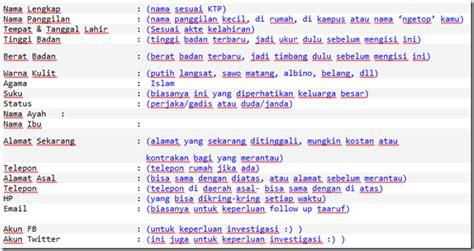 format biodata taaruf provokator nikah cara buat biodata taaruf lengkap