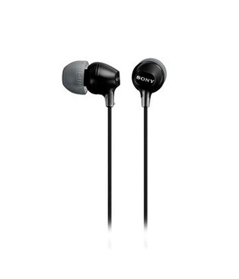 Headset Earpone Ear In Sony Mh1c Original sony mdr ex15 in ear earphones black without mic buy sony mdr ex15 in ear earphones black