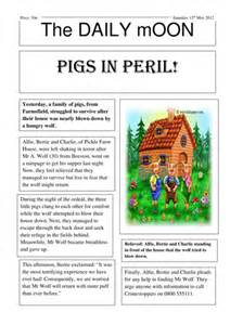 Writing A Newspaper Report Ks2 by Three Pigs Newspaper Report Big Write By Lastingliteracy Teaching Resources