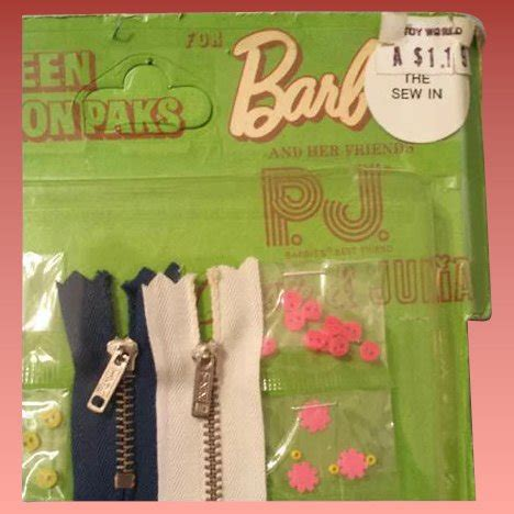 fashion doll sewing notions doll miniature sewing kit notions mattel p j