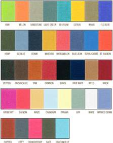 comfort color comfort color t shirts color chart