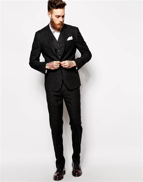 Slim Allblack New Arrival slim fit black suits for www pixshark images