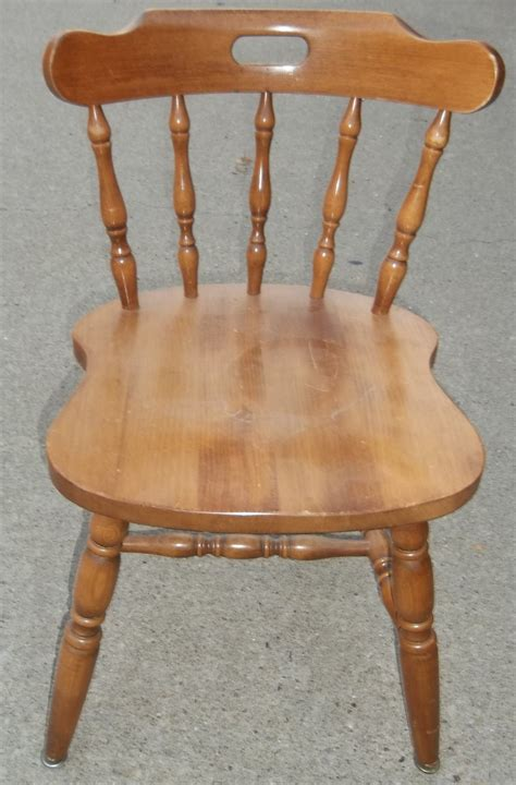 Maple wood dining chair spindle back finders keepers emporium