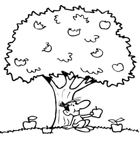 preschool coloring pages apple tree preschool apple tree coloring page