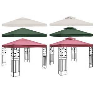 Patio Gazebo Replacement Covers 10 X 10 Gazebo Top Cover Patio Canopy Replacement 1 Tier Or 2 Tier 3 Color New Ebay