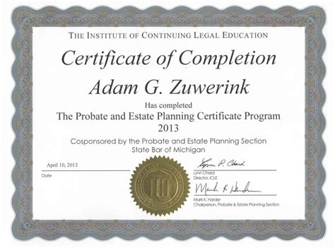 sample certificates of completion examples of certificates of completion template