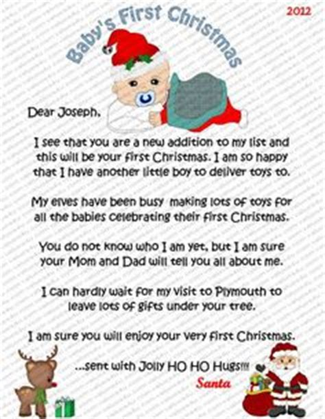 personalized letter from santa babys first christmas baby s 1st christmas on pinterest babies first christmas