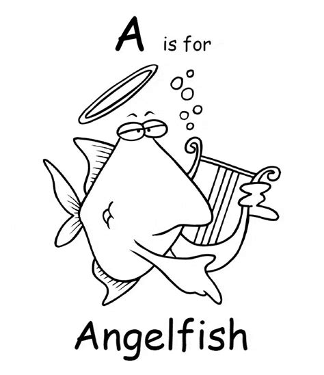 angel fish coloring pages printable angelfish coloring page animals town animals color