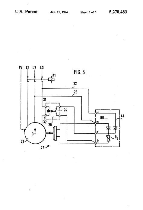Patent US5278483 - Motor brake with single free wheeling