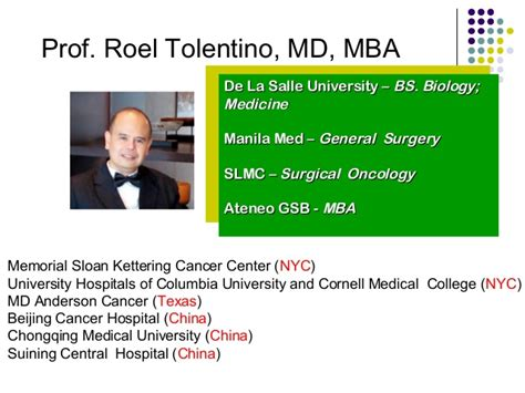 What Can You Do With An Md Mba by Bone And Joint Health Roel Tolentino Md Mba
