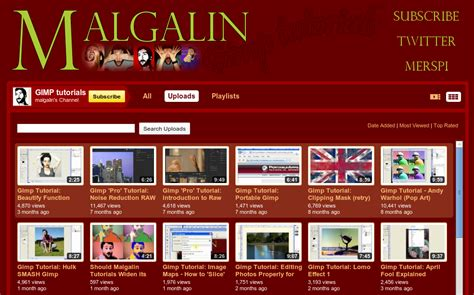 website gimp tutorial cool site malgalin channel di youtube yang berisi