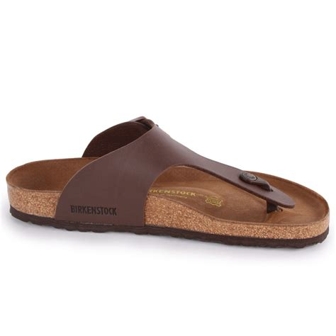 leather sandals birkenstock ramses mens synthetic leather sandals brown