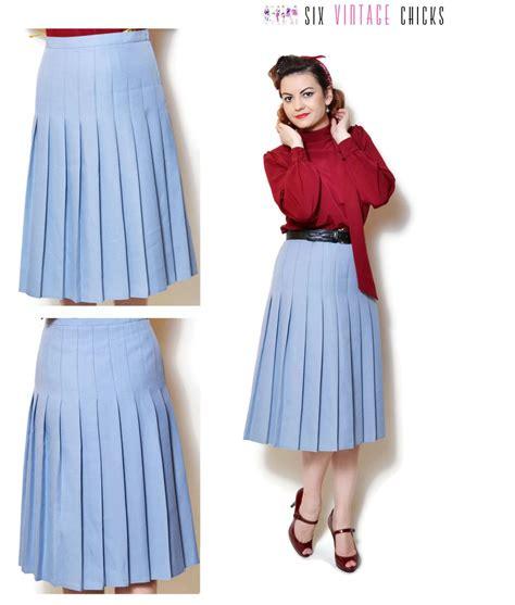 pleated skirt vintage high waisted clothing midi