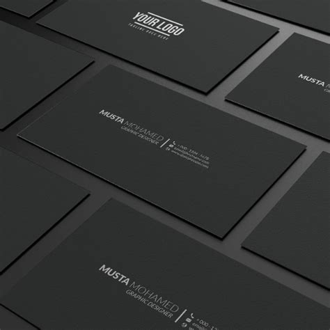 Black Business Card Template Ai by 17 Minimal Business Card Designs Templates Psd Ai