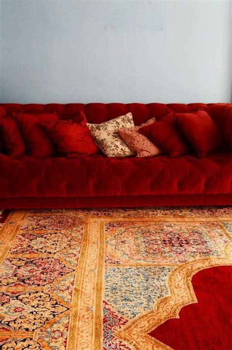 persian couch red couch and persian carpet this is divine dream home
