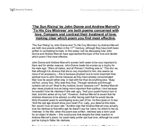 To His Coy Essay by To His Coy Essay To His Coy Essay Types Of Writing Essay By Andrew Marvell To