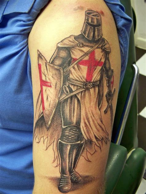 knight tattoo knights templar cross cool tattoos bonbaden