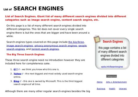 Email Search Engines List L Ist Of Search Engines
